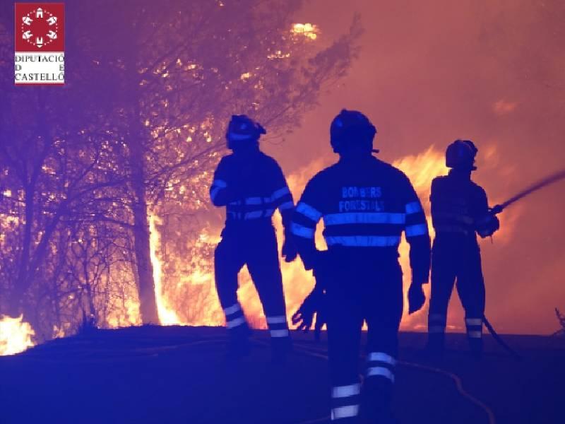 Los bomberos de la Diputación han intervenido en 21 incendios durante la ola de calor
