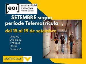 Abierto el segundo periodo de telematrícula de la Escuela Oficial de Idiomas de la Plana Baixa