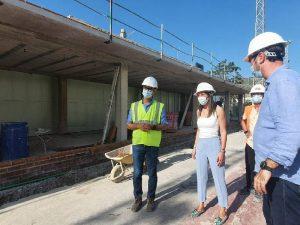 Las obras de remodelación del campo de fútbol de Oropesa del Mar avanzan a buen ritmo
