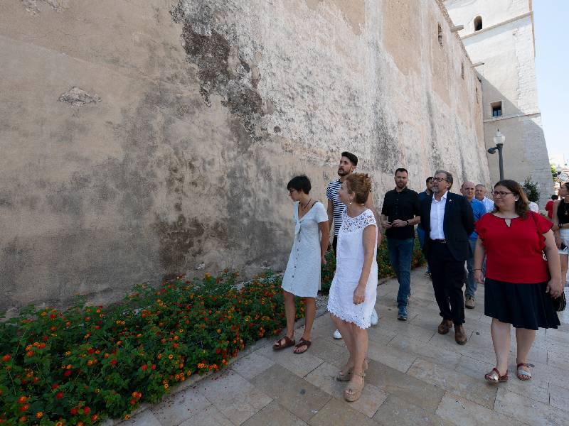 Diputación colabora en la salvación de las pinturas fingidas de la Iglesia Arciprestal de Vinaròs