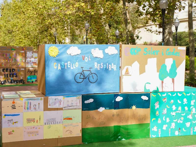 «Macrobicicletada» escolar por la movilidad sostenible, saludable y segura en Castellón