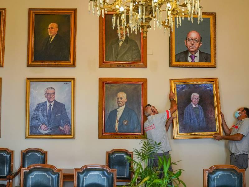 Los retratos de Germà Colón y el Padre Ricardo ya comparten sala con otros ilustres de Castellón