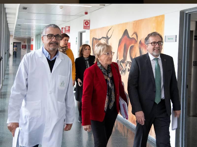 Martí tilda de «muy buena noticia» el próximo inicio de las obras del edificio de oncología del Hospital Provincial de Castellón