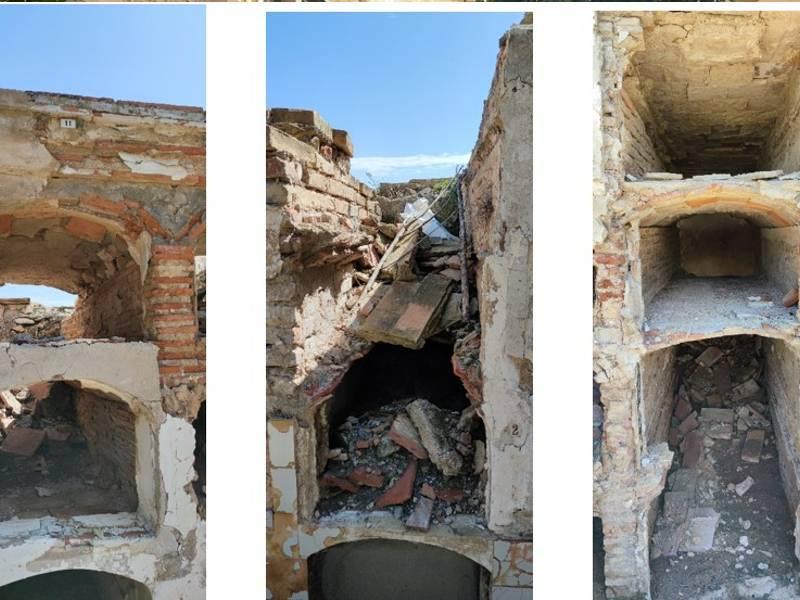 La dejadez se apodera del cementerio de Vinaroz